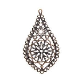 Metall Ornament Bronze Nr.51 10 Stück