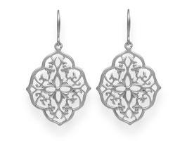 Oriental Ornament Ohrringe Rhodiniert
