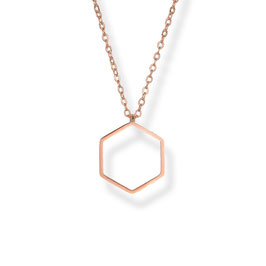 Luxury Hexagon Kette Rosegold