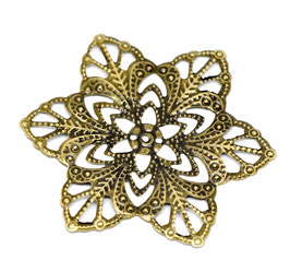 19 Metall Ornament Bronze Nr.19 10 Stück