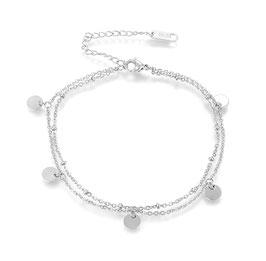 Armband Edelstahl Plättchen Silber