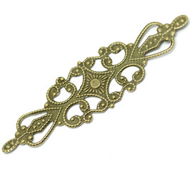 5 Metall Ornament Bronze Nr.5 10 Stück