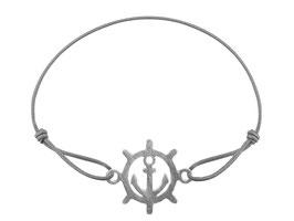 Armband Steuerrad Anker Edelstahl Silber