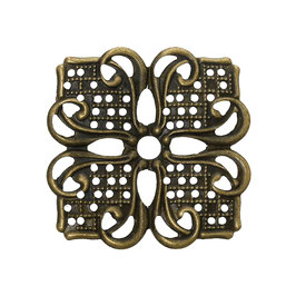 Metall Ornament Bronze Nr.32 10 Stück