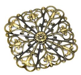 16 Metall Ornament Bronze Nr.16 10 Stück