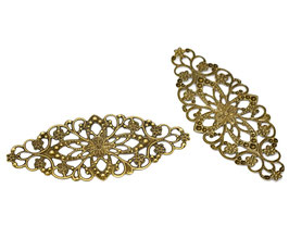 Metall Ornament Bronze Nr.1 10 Stück