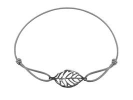 Armband Blatt Edelstahl Silber