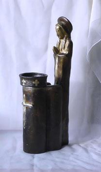 Besonderer Skulpturen Kerzenständer Madonna mit Tropfschutz