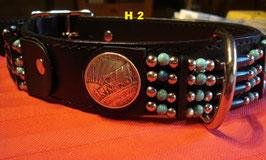 Halsband Vollrindleder 4 cm in Schwarz - Zierconcha
