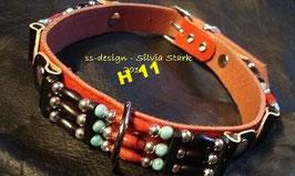 Rotes Leder Halsband