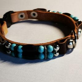 Hundehalsband für Kleinsthunde wie Pinscher etc. (MHH1) Country-Style, ab 23 cm Halsumfang, auch Katzentauglich