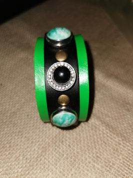 Armband, grün, mit 3 Click-Button