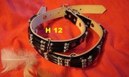 Halsband in Schwarz-Weiss