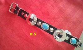 Halsband schwarz, Vollrindleder