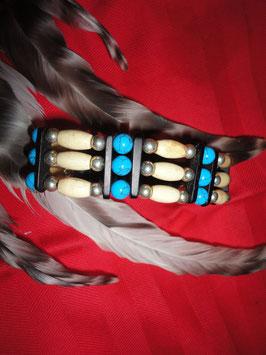 Armband im indianischem Stil mit Druckknopfverschluß (ChA01)