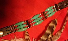 Armband mit Türkisoliven, Howlith und Korallenperlen (ChA05)