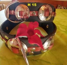 Vollrindleder Halsband im Western-Style