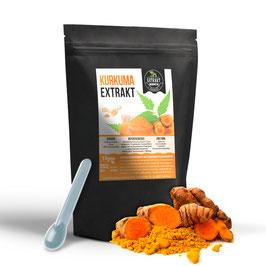 Kurkuma Extrakt [95% Curcuminoiden] | 100g - 200g reines PULVER | hochdosiertes Extrakt | frei von Zusatzstoffen