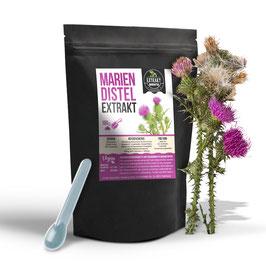 Mariendistel EXTRAKT 100g - 500g [aus den Samen]| 80% Silymarin | hochdosiertes Extrakt | naturrein - ohne Zusätze