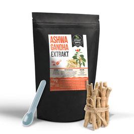 Ashwagandha Extrakt | 5% Withanolide | 100g - 200g Pulver | 100g Extrakt = 1kg Pulver | laborgeprüft