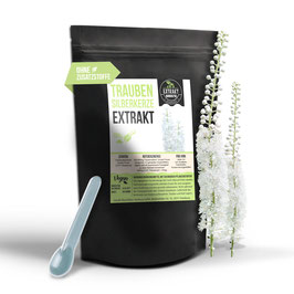 Traubensilberkerze Extrakt 100g & 200g Pulver   2,5% Triterpenoid   naturrein - ohne Zusatzstoffe   in Deutschland abgefüllt