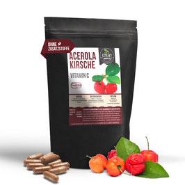 Acerola 120 & 240 Kapseln | 500mg | natürliches Vitamin C |  vegan & ohne Zusätze (unbehandelt)