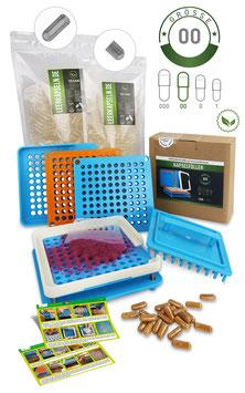 Kapselfüller + Leerkapseln | Gr. 00 | vegan HPMC | getrennte Kapselhälften | transparent | kein vorheriges öffnen nötig