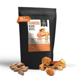 Agaricus Blaizei Murill Extrakt | 120 & 240 Kapseln | 400mg hochdosiertes Extrakt | naturrein - ohne Zusätze | 100% vegan & in Deutschland abgefüllt