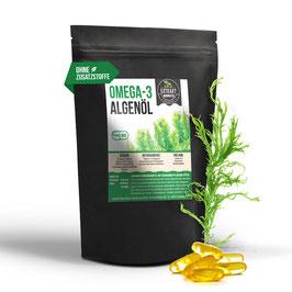 Omega-3 Algenöl | DHA 150mg EPA 75mg | 60 Kapseln 500mg | pflanzlich statt Fischöl - hohe Dosierung | 100% vegan [veg. HPMC Kapselhülle]