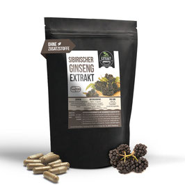 Sibirischer Ginseng Extrakt | 0,8% Eleutheroside | 120 & 240 KAPSELN | 400mg hochdosiertes Extrakt | naturrein - ohne Zusätze