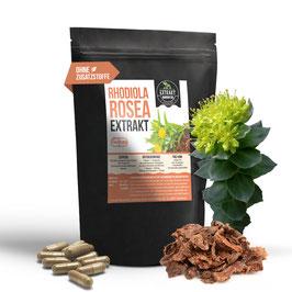Rhodiola Rosea EXTRAKT | 3% Rosavin | 120 & 240 KAPSELN - 400mg Rosenwurz | ohne Zusatzstoffe und laborgeprüft | hochdosiert, 100% vegan & in Deutschland hergestellt