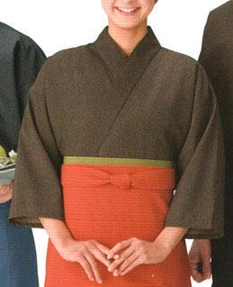 SJ-4013    作務衣・上着 (網代・茶)
