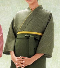 SJ-4032    作務衣・上着 (麻の葉・抹茶)