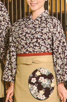 SJ-4313    作務衣・上着 (桜と楓・紫)
