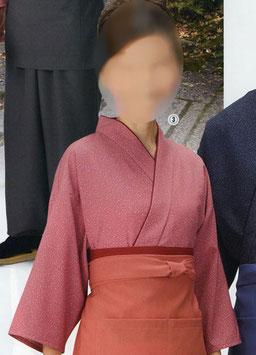 SJ-4045    作務衣・上着 (雪霞・ピンク)