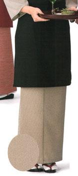 SK-9022    和風スカート (万筋・茶)