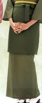 SK-9032    和風スカート (麻の葉・抹茶)