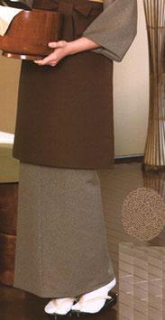 SK-9053    和風スカート (縁起鮫小紋・茶)