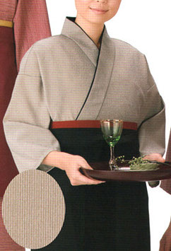 SJ-4022    作務衣・上着 (万筋・茶)