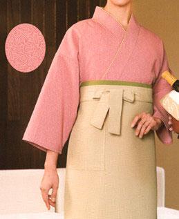 SJ-4052   作務衣・上着(縁起鮫小紋。ピンク)