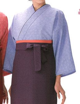 SJ-4044    作務衣・上着 (鮫桜・すみれ色)
