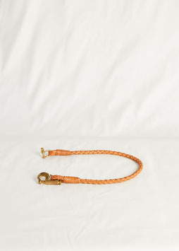 LANYARD WITH 2 DIFFERENT CARABINER MA422 / 53 cm / full grain vegetable tanned leather