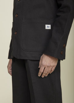 DARWIN MJ100 / Worker Jacket / Black Bull Denim 13oz