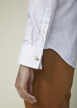 EDGAR MS510 / Classic collar slim fit with cufflinks / 4.5 oz, 100% cotton, White Oxford