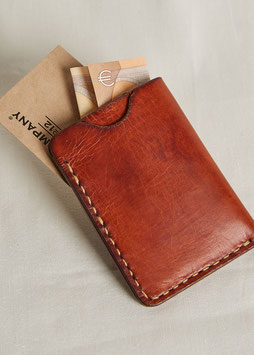 CARD HOLDER MA411 / 7.5 cm x 10 cm / full grain vegetable tanned leather