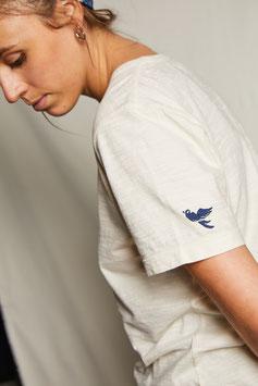 HOMER MT304 / simple t-shirt with the statement bird / ecru