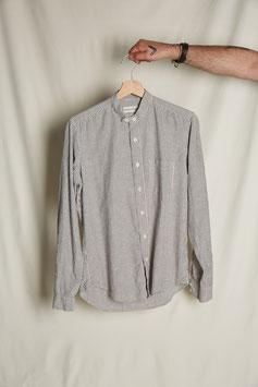 MARLON MS502 / Stand collar / 1 pocket /  135gr, 100%cotton, Grey Pinstripes