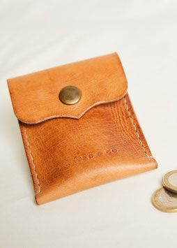 COIN & CARD HOLDER MA411 / 8.5 cm x 10 cm / full grain vegetable tanned leather