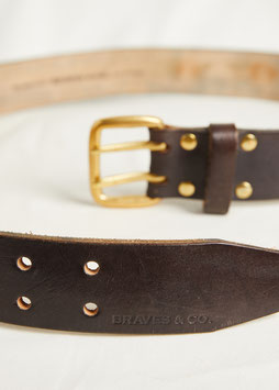 BELT MA421 / 40mm / full grain vegetable tanned leather