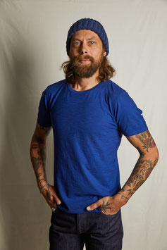 HOMER MT304 / simple t-shirt with the statement bird / blue